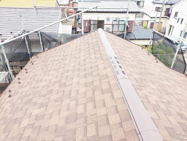愛甲郡愛川町中津で屋根葺き換え|2階屋根仕上がりました|さむかわ塗装