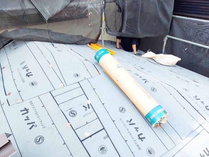 愛甲郡愛川町中津で屋根葺き換え|1階屋根カバー工事ルーフィング|さむかわ塗装