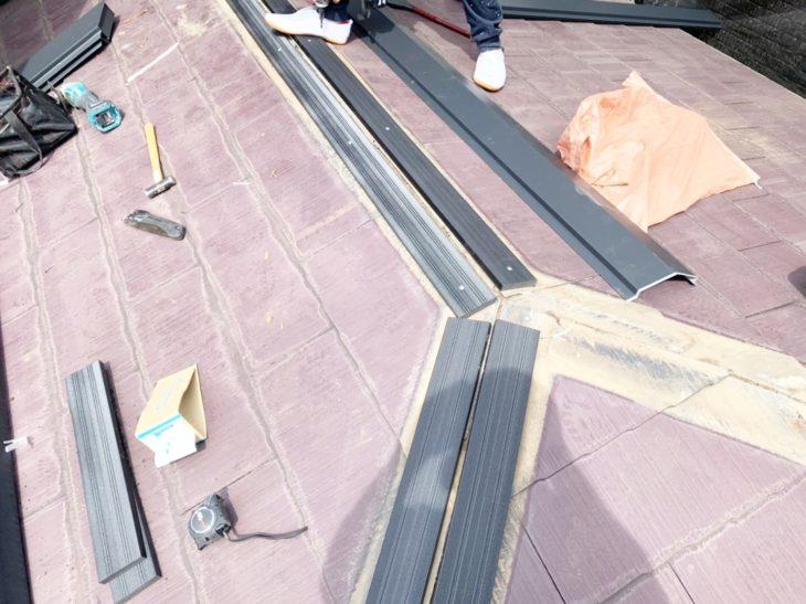 高座郡寒川町大曲で屋根外壁塗装工事の屋根補強工事 さむかわ塗装