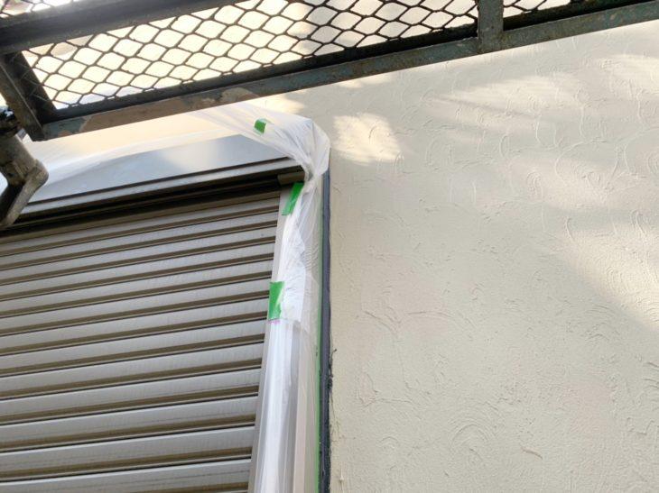 寒川町宮山で屋根外壁塗装工事 周辺養生、シーリング工程